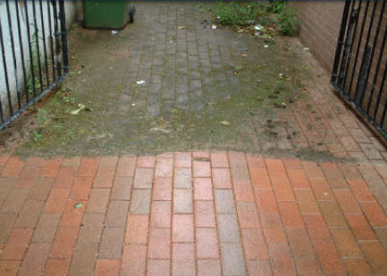Brick cleaning with PWSI Boise Pressure Washing